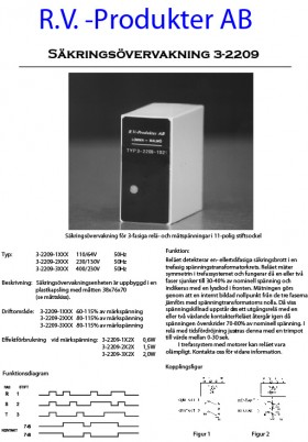 Säkringsövervakning 3-2209