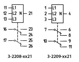 inkoppling 3-2208-xx21 och 2209-xx21