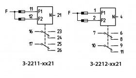 nkoppling 3-2211 och 3-2212